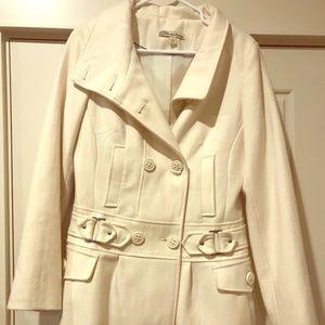 American Rag Women's Cream Pea Coat